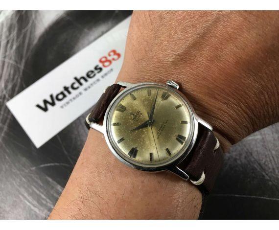 23e10088016f ... Reloj suizo antiguo de cuerda Rolex Tudor Aqua Geneve Suisse Cal 2402      PÁTINA