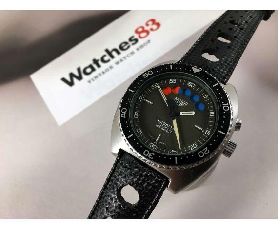 HEUER REGATTA Reloj suizo vintage cronógrafo automático Ref 134.602 Cal Lemania 1345 *** ESPECTACULAR ***