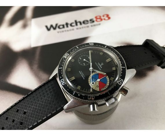 YEMA Yachtingraf Reloj cronógrafo antiguo de cuerda Cal Valjoux 7730 *** ESPECTACULAR ***