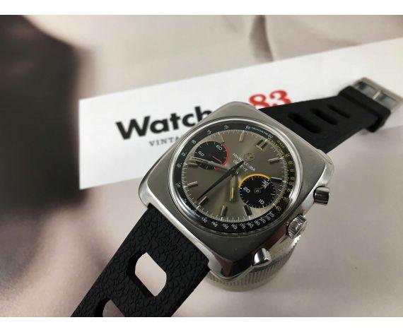 FAVRE LEUBA Geneve 10 ATU Vintage swiss chronograph hand winding watch Cal Valjoux 23 Ref 30243 *** SPECTACULAR ***