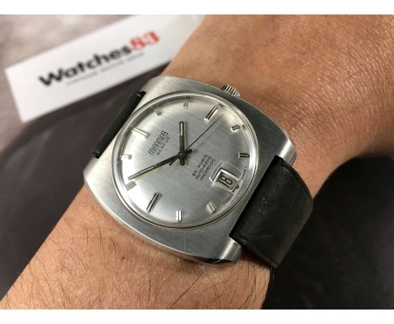 NOS Miramar Genève 25 rubis Incabloc Reloj suizo vintage automatico Gran diámetro *** NUEVO DE ANTIGUO STOCK ***