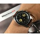 Reloj Craftsman vintage suizo de cuerda cronógrafo Cal Landeron 248 Dial Panda Reverso *** PRECIOSO ***