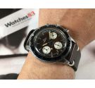 NEPTUNE BAYLOR Reloj suizo cronógrafo antiguo de cuerda Cal Landeron 349 Tropical *** ESPECTACULAR DIAL CHOCOLATE ***