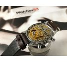 NEPTUNE BAYLOR Vintage swiss chronograph manual wind watch Cal Landeron 349 Tropical *** SPECTACULAR CHOCOLATE DIAL ***