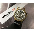 LYCKE WATCH Chronographe Suisse Vintage swiss chronograph hand winding watch Cal Valjoux 22 *** PRECIOUS PATINA ***