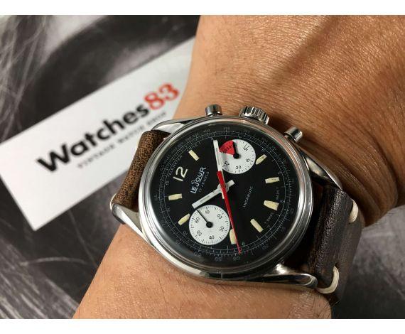 LE JOUR Reloj cronógrafo suizo de cuerda Vintage Yachting Cal Valjoux 7733 J. P. Pingouin *** PRECIOSO ***