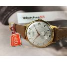 KARDEX Vintage swiss textured hand winding watch OVERSIZE Plaqué OR NOS Cal. ETA 1120 *** NEW OLD STOCK ***