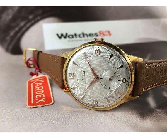 KARDEX Reloj texturado suizo vintage de cuerda OVERSIZE Plaqué OR NOS *** NUEVO DE ANTIGUO STOCK ***