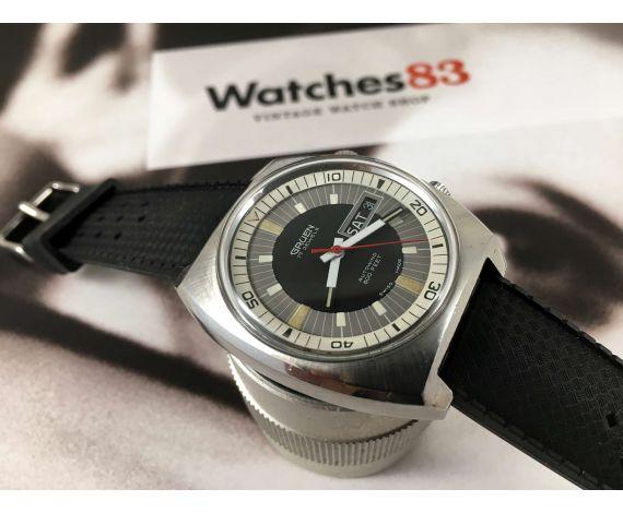GRUEN Reloj vintage suizo antiguo automático Autowind 600 FEET 17 jewels Cal 731 CD *** OVERSIZE ***