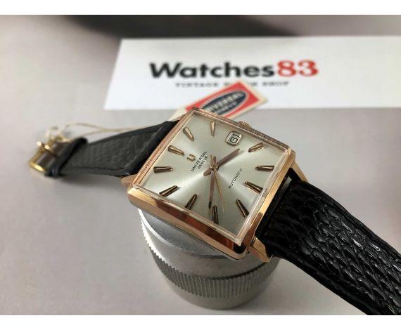 NOS Universal Geneve Reloj suizo vintage automático Plaqué OR Cal 275 Ref 41401-2 *** NEW OLD STOCK ***