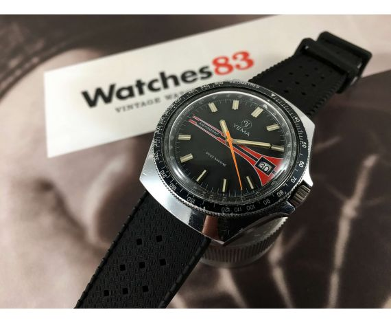 YEMA Meangraf Sous Marine Reloj vintage de cuerda Cal FE 3611 *** PRECIOSO ***