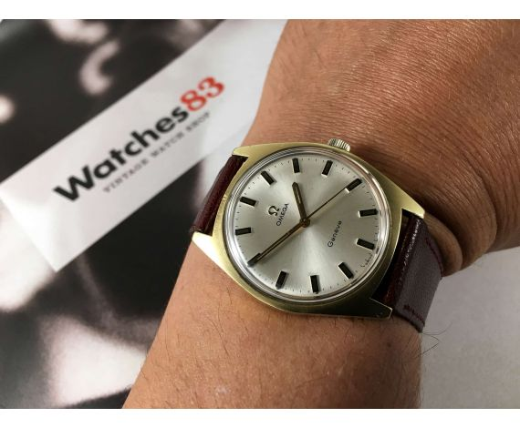 6efe27c2c4ff Omega Geneve Reloj antiguo de cuerda Ref 135.041 Cal 601 Plaqué OR G 20  microns ...