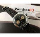 Cauny Crono 20 ATMOS Vintage swiss chronograph hand winding watch Cal. Valjoux 7733 *** PANDA DIAL REVERSE ***