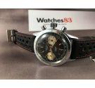 Cauny Crono 20 ATMOS Reloj cronógrafo antiguo suizo de cuerda Cal. Valjoux 7733 *** DIAL PANDA REVERSO ***