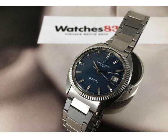 ETERNA MATIC 1000 Reloj suizo antiguo automático Cal ETA 2824-1 Dial Azul 5 STAR *** EXCELENTE ESTADO ***