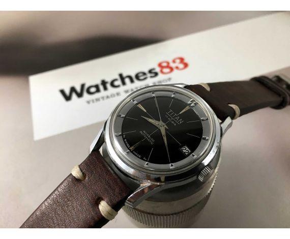 TITAN Reloj suizo antiguo automático dial negro Cal. ETA 2452 *** ESTILO POLEROUTER ***