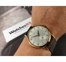 EMYL Vintage swiss hand wind watch OVERSIZE 39 mm Landeron 540 Plaqué OR *** NEW OLD STOCK ***