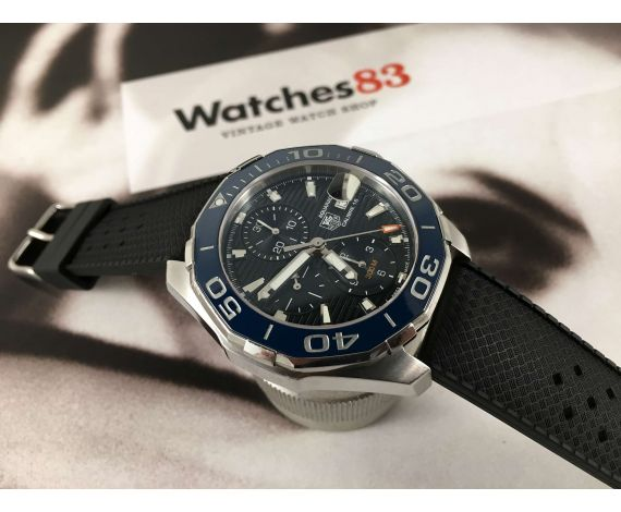 TAG HEUER AQUARACER Diver 300M Calibre 16 Reloj suizo cronógrafo automático Ref CAY211B-0 *** ESPECTACULAR ***