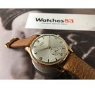 NOS LANDI Reloj suizo antiguo de cuerda Plaqué OR Consul 135 *** NEW OLD STOCK ***