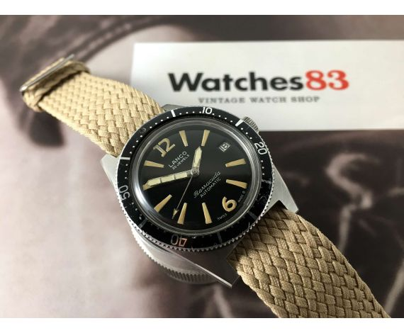 Diver LANCO BARRACUDA swiss vintage automatic watch 30 jewels Cal 1146 *** COLLECTORS ***