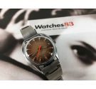 Sully Special swiss vintage hand winding watch NOS 17 jewels Brown and orange dial *** NEW OLD STOCK ***