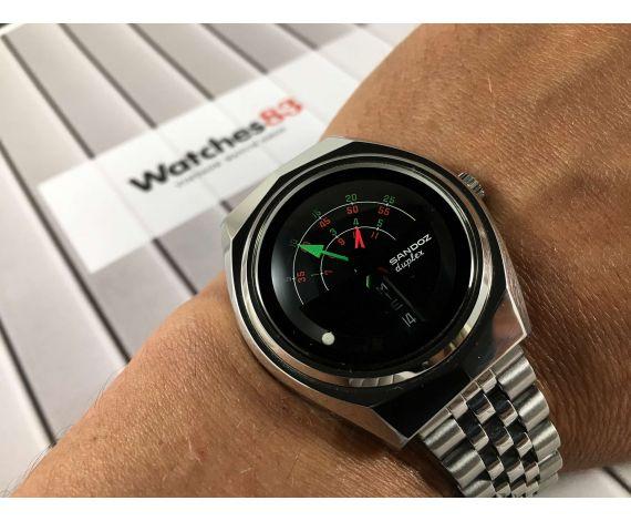 SANDOZ DUPLEX Vintage swiss automatic wristwatch 25 jewels Cal. FHF 908 *** MYSTERY DIAL ***