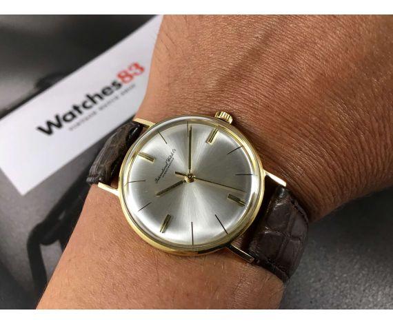 IWC International Watch Co Schaffhausen Vintage swiss manual winding watch Cal. IWC 402 GOLD 18K *** COLLECTORS ***