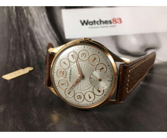 Reloj suizo CRYSREY vintage de cuerda Cal. AS1067 IMPRESIONANTE DIÁMETRO 42,5 mm. Nuevo de antiguo stock *** MARAVILLOSO ***