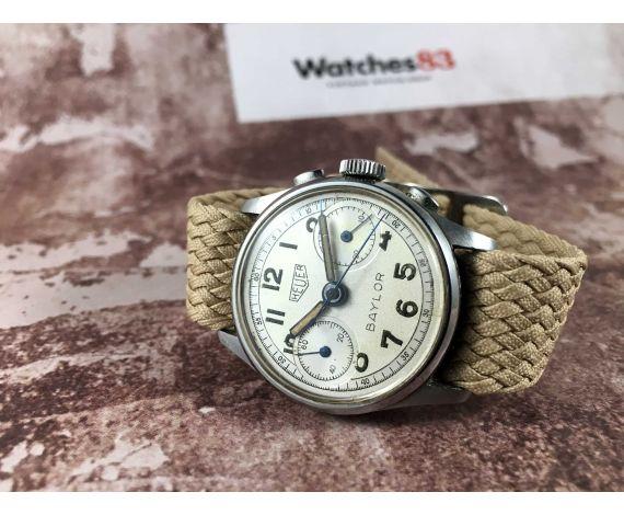 ED. HEUER & CO Reloj suizo cronógrafo vintage de cuerda HEUER BAYLOR Cal. Z0A Valjoux 23 *** COLECCIONISTAS ***