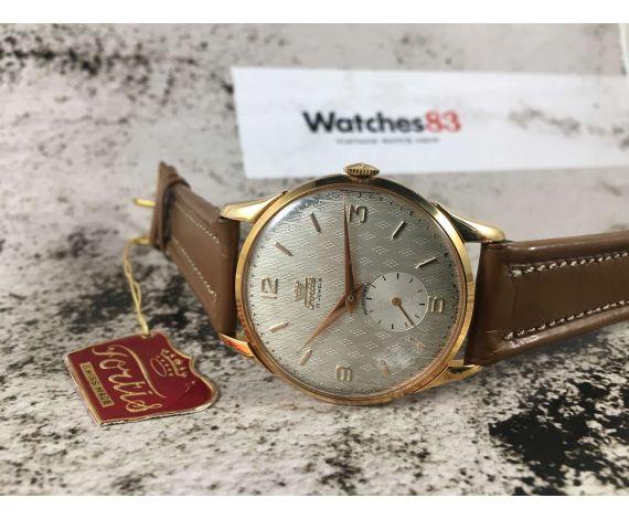 NOS Reloj suizo antiguo de cuerda FORTIS PLAQUÉ OR Cal. ETA 1120 OVERSIZE 38 mm *** NUEVO ANTIGUO STOCK ***