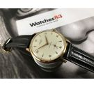 N.O.S. STUDIO Reloj suizo antiguo de cuerda Plaqué OR GRAN DIÁMETRO: 38 mm Cal. Vulcain 590 *** NEW OLD STOCK ***