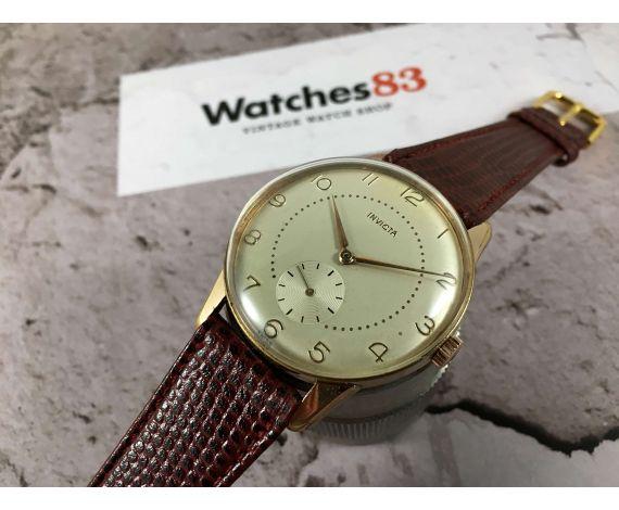 INVICTA Reloj suizo antiguo de cuerda PLAQUÉ OR Cal. AS 1130 OVERSIZE 37 mm *** PRECIOSO ***