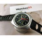 Edox RACING Vintage chronograph swiss hand wind watch Cal Valjoux 7734 + Box *** SPECTACULAR ***