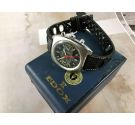 Edox RACING Vintage chronograph swiss hand wind watch Cal Valjoux 7734 + Box *** SPECTACULAR ***