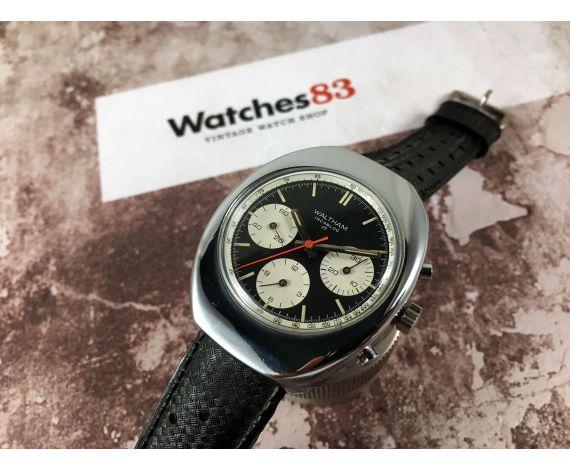 WALTHAM Reloj suizo cronografo antiguo de cuerda Cal Valjoux 7736 *** DIAL PANDA ***