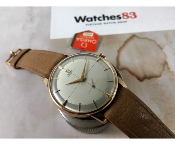 OMEGA Jumbo Reloj NOS suizo vintage automático Cal 491 Ref 2934-1 Plaqué OR + ESTUCHE *** NUEVO DE ANTIGUO STOCK ***
