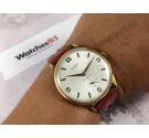NOS STUDIO (Vulcain) Reloj suizo antiguo de cuerda Plaqué OR GRAN DIÁMETRO Cal. Vulcain 590 *** NUEVO DE ANTIGUO STOCK ***
