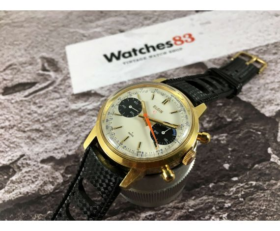 ELGIN Vintage chronograph hand wind watch Cal. Valjoux 7733 *** PANDA DIAL ***