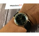 Universal Geneve Gold 18K 0,750 Cal UG 330 Vintage swiss hand wind watch Black Dial *** COLLECTORS ***