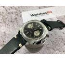 VETTA Vintage swiss chronograph hand winding watch Cal. Valjoux 23 *** PANDA REVERSE DIAL ***