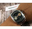 LANCO Reloj cronógrafo vintage suizo de cuerda Cal. Valjoux 7734 *** DIAL PANDA REVERSO ***