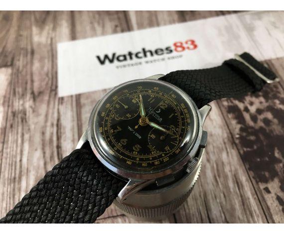 Reloj cronógrafo vintage HERMA suizo antiguo de cuerda Cal. Landeron 148 *** MILITAR ***