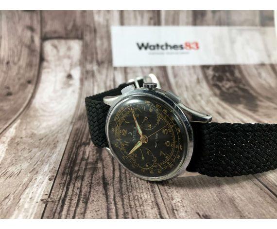 Vintage Swiss HERMA vintage chronograph manual winding watch Cal. Landeron 148 *** MILITARY ***