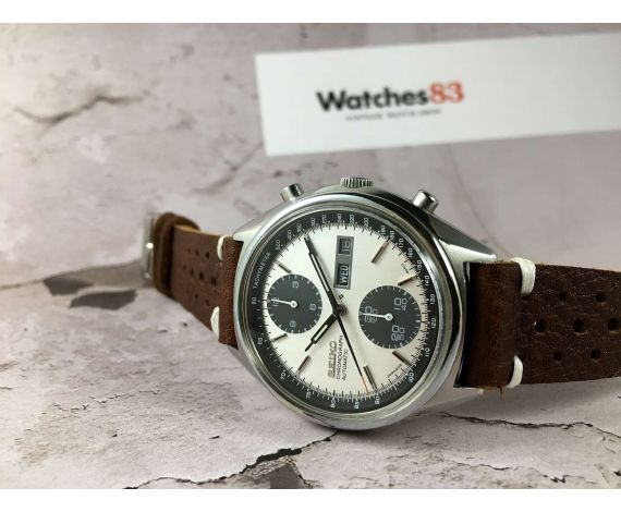 Seiko Panda Vintage automatic chronograph watch Ref 6138-8020 Cal. 6138 *** SPECTACULAR ***