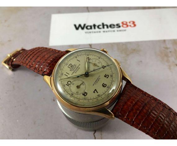 SINEX Geneve Chronographe Suisse Reloj cronógrafo vintage de cuerda manual Cal. Landeron 48 Plaqué OR *** GRAN DIÁMETRO ***