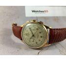 SINEX Geneve Chronographe Suisse Vintage swiss hand wind chronograph watch Cal. Landeron 48 Plaqué OR *** OVERSIZE ***