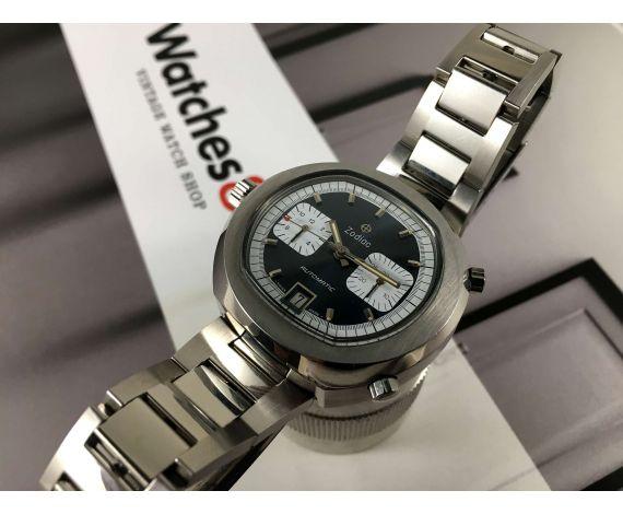 Zodiac Calibre Heuer 12 (Zodiac 90) Vintage swiss chronograph automatic watch Ref 902.887 *** SPECTACULAR ***