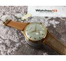 CRYSREY Reloj vintage suizo antiguo de cuerda Plaqué OR Cal. ETA 1120 OVERSIZE *** NEW OLD STOCK ***