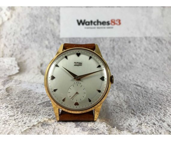TITAN Vintage swiss hand winding watch Plaqué OR Cal. Unitas 600 OVERSIZE *** NEW OLD STOCK ***