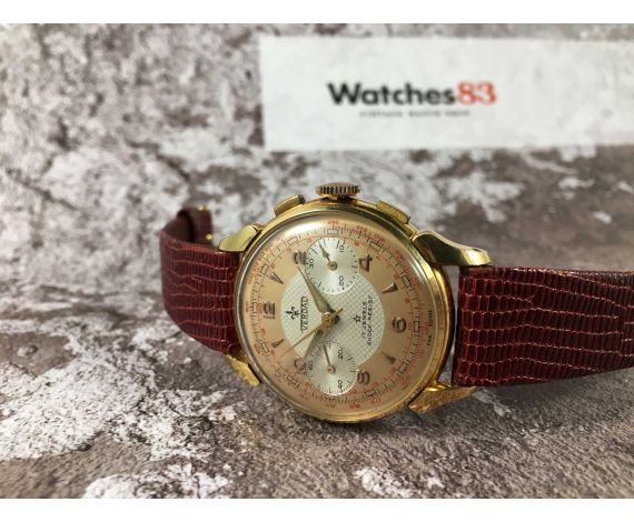 VERDAL (HEUER) Reloj suizo antiguo de cuerda cronógrafo Cal. Venus 175. *** ELEGANTE ***